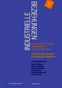 Cover: Industrielle Beziehungen